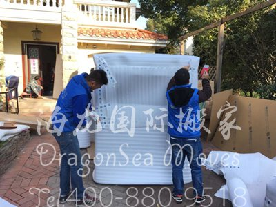 深圳移民海运旧家具到日本